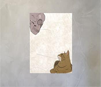 dobra - Lambe Autoadesivo - Gato e caveira