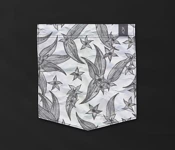 dobra - Bolso - Jardim de flores inventadas (fundo claro)