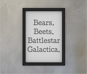 dobra - Quadro - The Office - Bears Beets Battlestar Gallactica