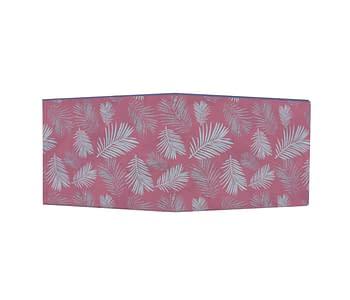 dobra - Nova Carteira Clássica - foliage sobre rosa