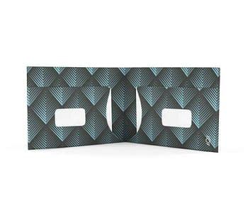 dobra - filetes triangulares cianos