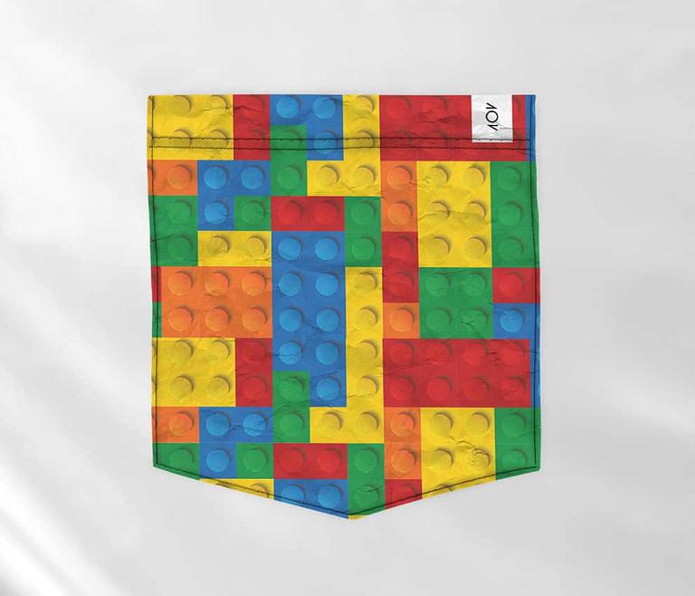 dobra bolso - blocos coloridos