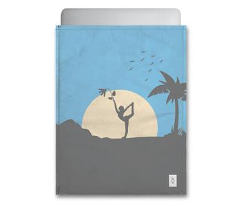 dobra - Capa Notebook - Sombras da natureza e yoga à luz do luar - azul