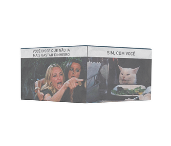 dobra - Nova Carteira Clássica - meme gato na mesa