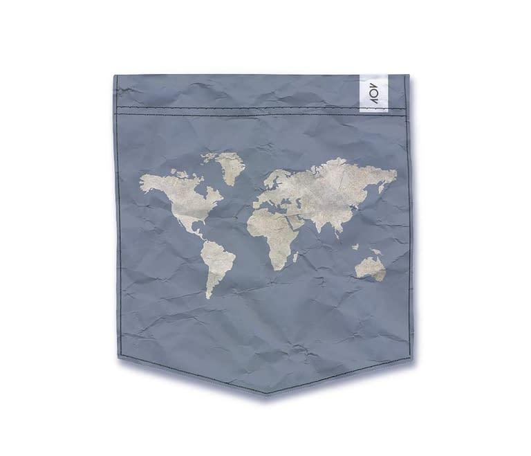 dobra - Bolso - mapa mundi azulzão