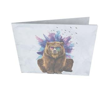 dobra - Nova Carteira Clássica - Urso doidão