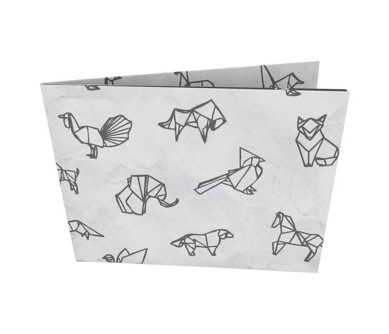 dobra - Nova Carteira Clássica - Origami Animais - Branca