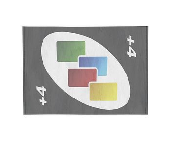 dobra - Porta Cartão - Carta +4 - Baralho Dobra