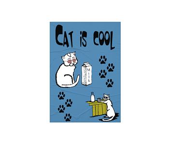 dobra - Lambe Autoadesivo - Cat is cool
