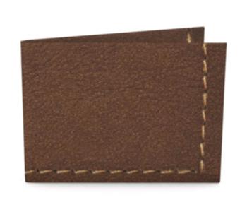 dobra - carteira de couro sqn