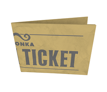 dobra - Nova Carteira Clássica - Wonka Golden Ticket