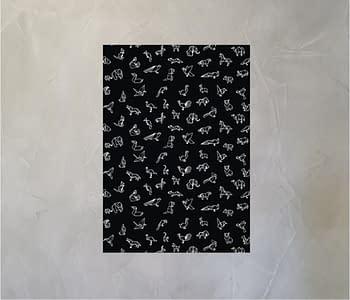 dobra - Lambe Autoadesivo - Origami Animais - Preta