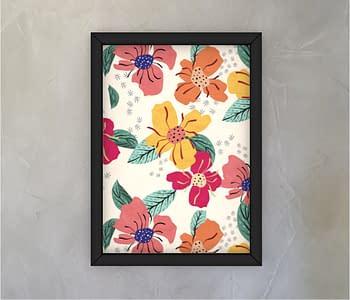 dobra - Quadro - Floral Divertido