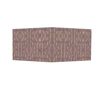 dobra - Nova Carteira Clássica - Folhagem Dourada com fundo vermelho