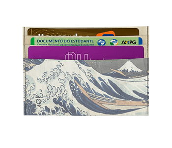 dobra porta cartao a grande onda de kanagawa