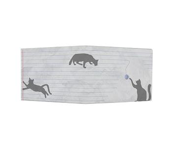 dobra - Nova Carteira Clássica - three black cats na folha