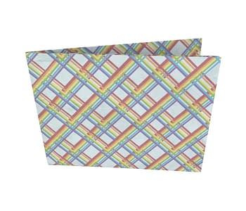 dobra - Nova Carteira Clássica - Arco-iris Geométrico