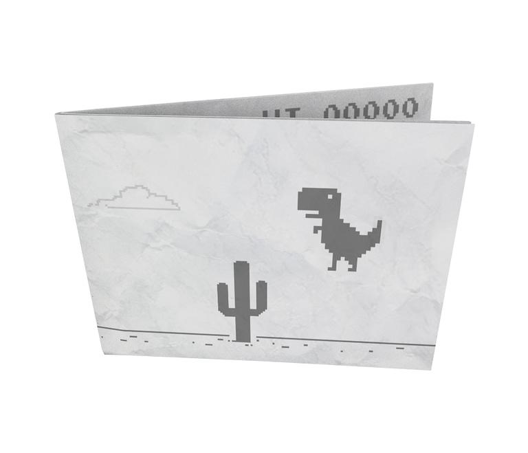 dobra - Nova Carteira Clássica - Sem Dinheiro - Dinossauro