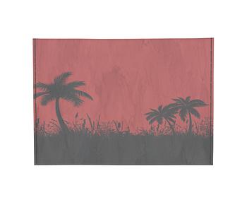 dobra - Porta Cartão - Palmeiras vermelhas