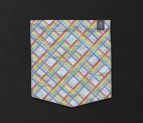 dobra - Bolso - Arco-iris Geométrico