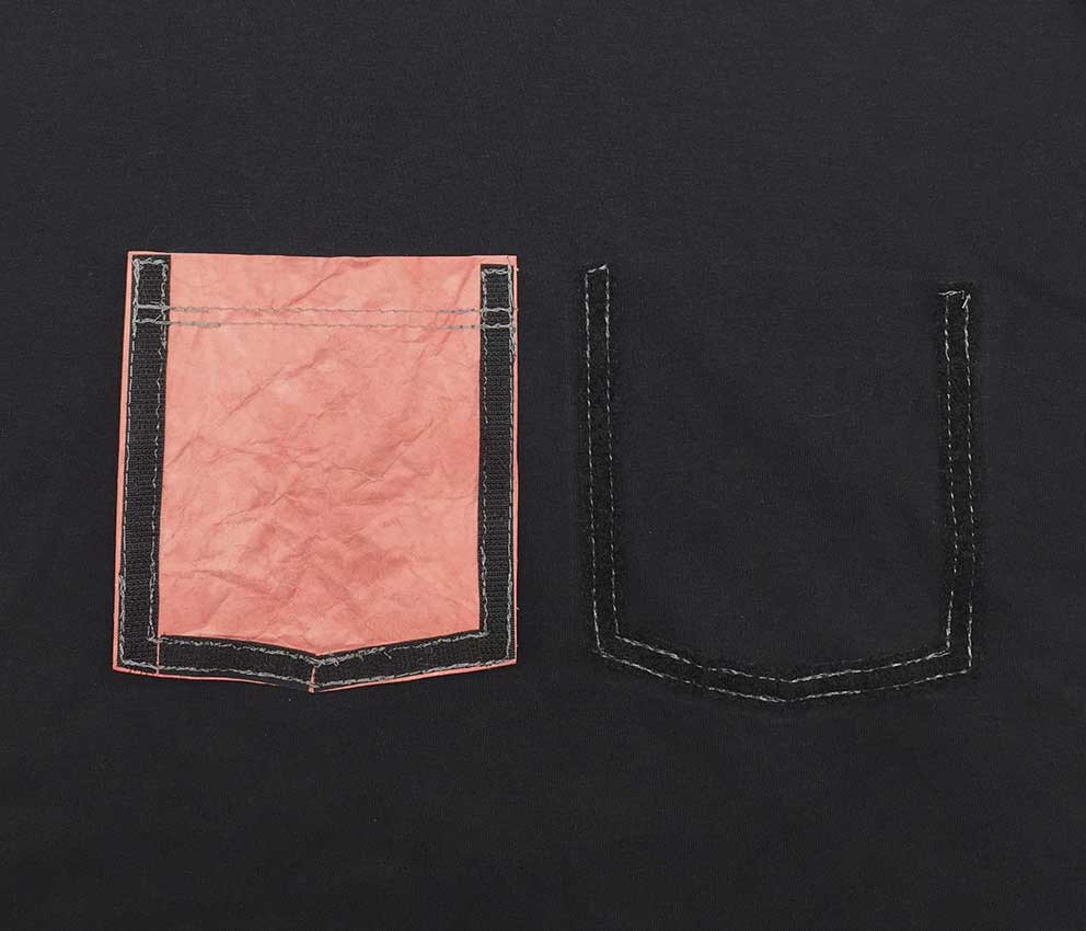 base de velcro dos bolsos trocáveis