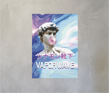 dobra - Lambe Autoadesivo - Vaporwave