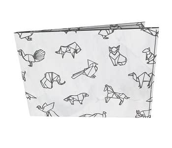 dobra - Carteira Old is Cool - Origami Animais - Branca