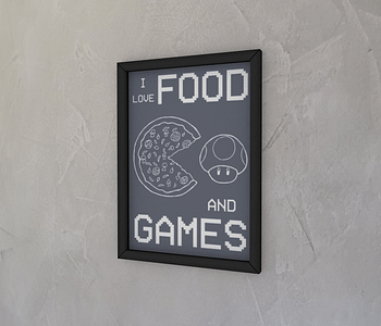 dobra - Quadro - Food and Games