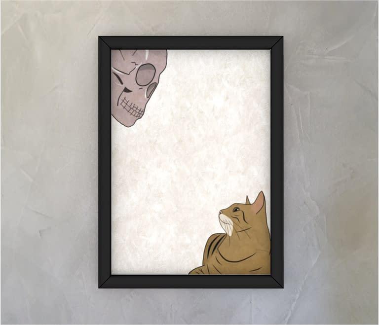 dobra - Quadro - Gato e caveira