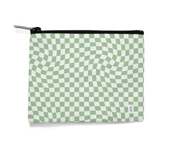 dobra - Necessaire - Warped Check Verde