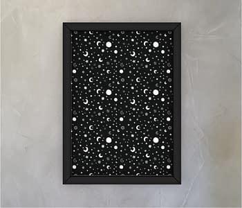 dobra - Quadro - Black Moon and Stars