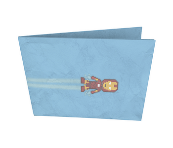 dobra - Nova Carteira Clássica - Homem de Ferro Pixel Mário