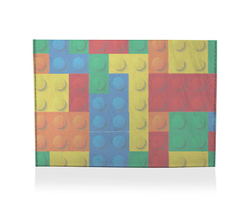 dobra porta cartao blocos coloridos
