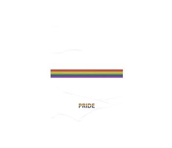 dobra - Lambe Autoadesivo - LGBT Pride - Minimalist White