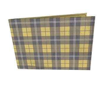 dobra - Carteira Old is Cool - xadrez amarelo