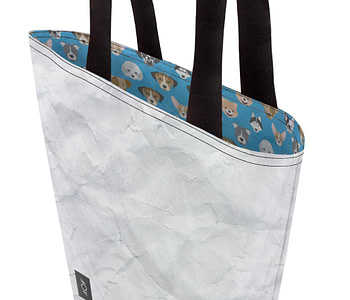 dobra bag cachorrinhos azul