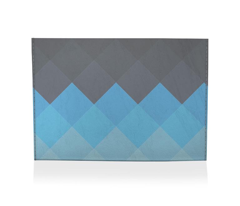 porta cartão xadrez azul