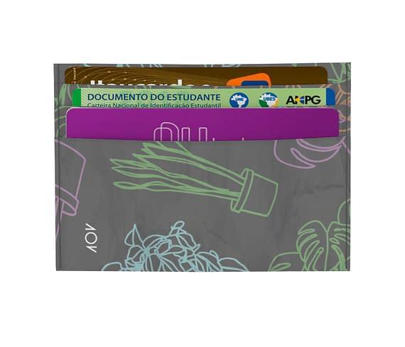 dobra - Porta Cartão - MAE DE PLANTA