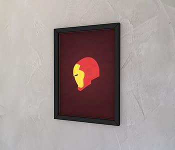 dobra - Quadro - Homem de Ferro minimalista