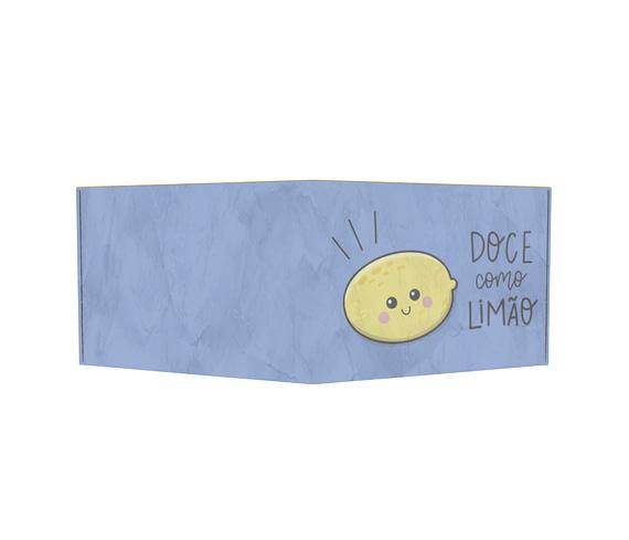 dobra - Carteira Old is Cool - Doce como limão