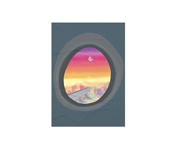 dobra - Lambe Autoadesivo - window airplane