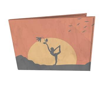 dobra - Carteira Old is Cool - Sombras da natureza e yoga à luz do sol - laranja
