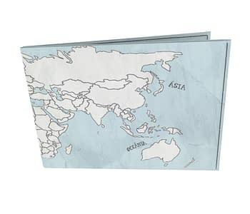 dobra - Carteira Old is Cool - Mapa Mundi Simples <3