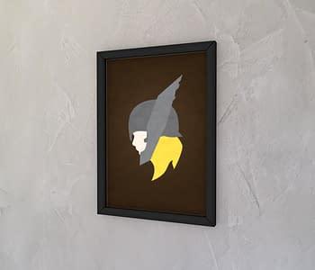 dobra - Quadro - Thor minimalista