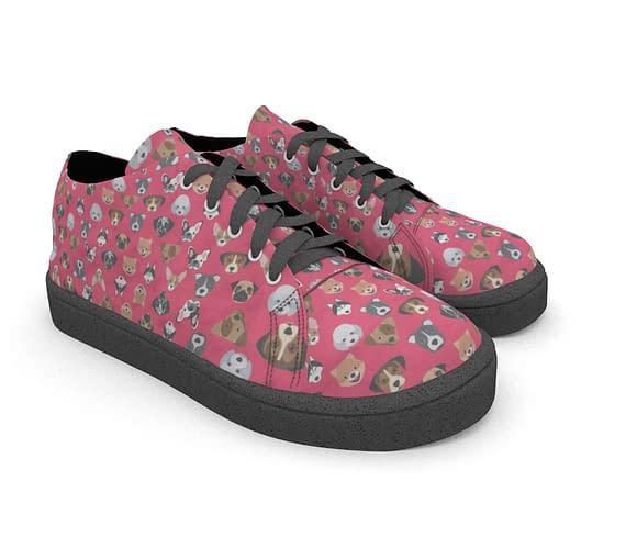 dobra tenis cachorrinhos rosa