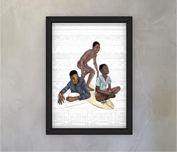 dobra - Quadro - três meninos lwandi