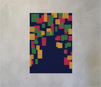 dobra - Lambe Autoadesivo - Aleatório, Quadrado e Colorido