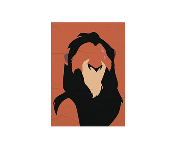 dobra - Lambe Autoadesivo - Minimalist bad lion