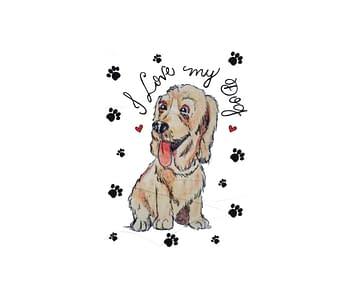 dobra - Lambe Autoadesivo - I Love my Dog