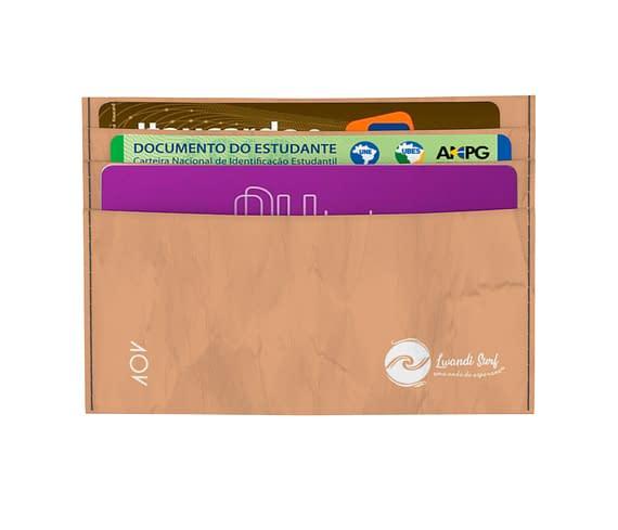 dobra - Porta Cartão - estampa surf laranja